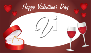 Royalty Free Clipart Image of a Valentine's Day Message