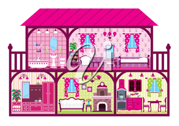 Royalty Free Clipart Image of a House Interior