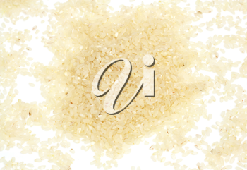 Brown Rice on White Background