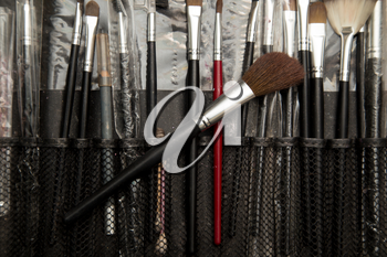 tools makeup in a beauty salon
