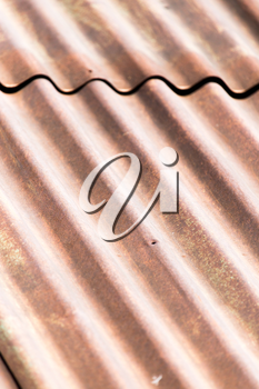 background of old rusty roof