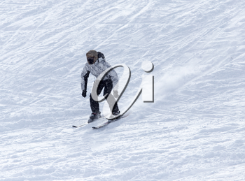 skier skiing in the snow