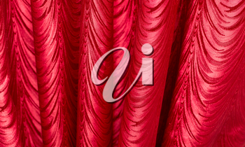Red fabric as a background. texture