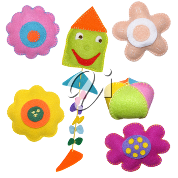 Kite and flowers - kids toys