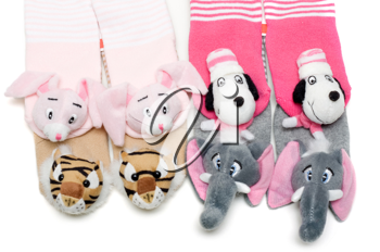Royalty Free Photo of a Bunch of Cute Socks