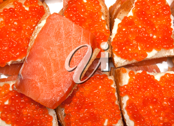 Royalty Free Photo of Caviar on Bread