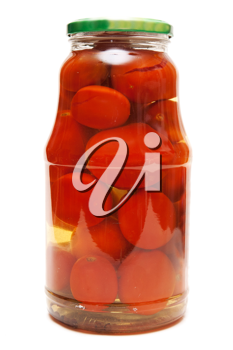 Royalty Free Photo of a Jar of Tomatoes