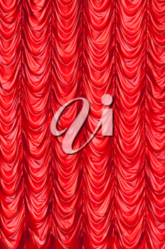 Brightly  red lit curtains for your background