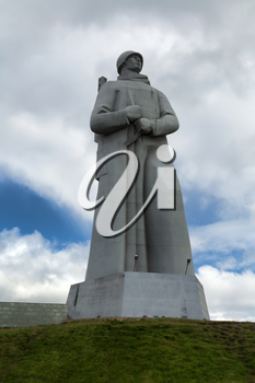 MURMANSK, RUSSIA - JUNE 8: Monument to the Defenders of the Soviet Arctic during the Great Patriotic War, commonly called Alyosha, on June 8, 2015 in Murmansk, Russia.