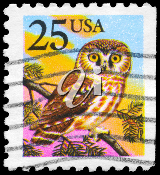 Royalty Free Photo of 1988 US Stamp Shows the Owl