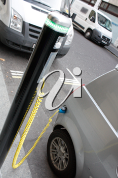Royalty Free Photo of an Electric Car Charging