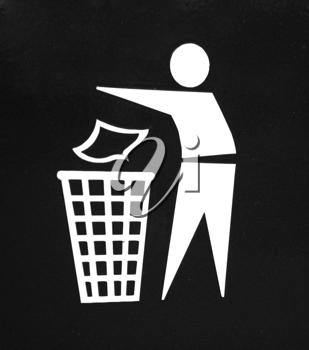 Royalty Free Photo of a Waste Icon