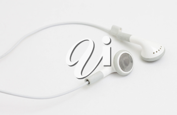 Royalty Free Photo of a Pair of Earbuds