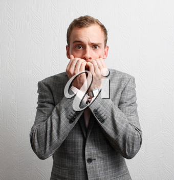 Royalty Free Photo of a Worried Businessman