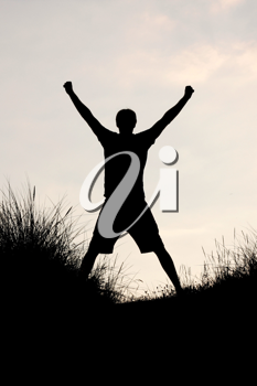 Royalty Free Photo of a Silhouette of a Man