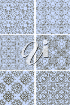 Royalty Free Clipart Image of a Background of a Floral Pattern