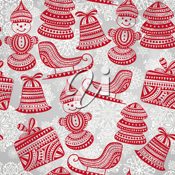 Royalty Free Clipart Image of a Background With Winter Images