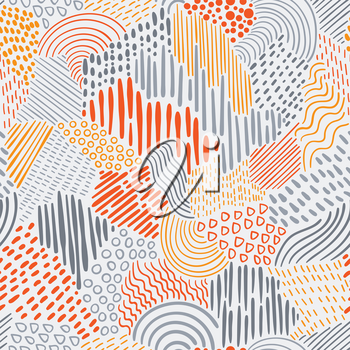 Vector Seamless  Abstract Pattern  with bright elements