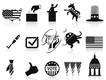 Royalty Free Clipart Image of American Election Icons