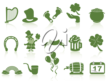 Royalty Free Clipart Image of St.Patrick's Day Icons