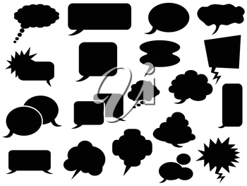 the background of black speech bubbles