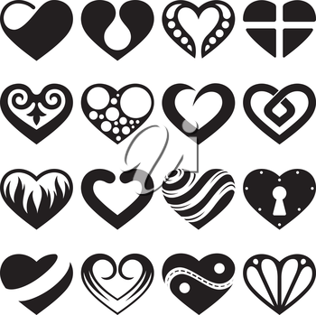 Royalty Free Clipart Image of Heart Elements