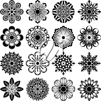 Royalty Free Clipart Image of a Floral Elements