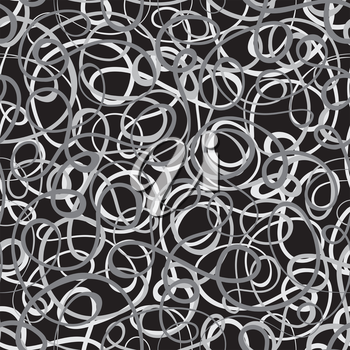 Royalty Free Clipart Image of a Tangled Line Background