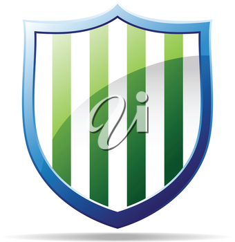 Royalty Free Clipart Image of a Striped Badge