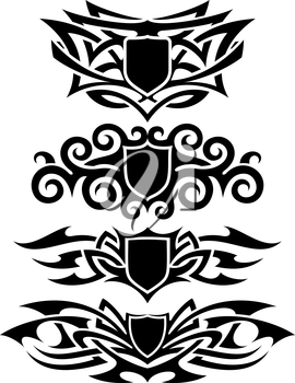 Royalty Free Clipart Image of Tattoo Shields