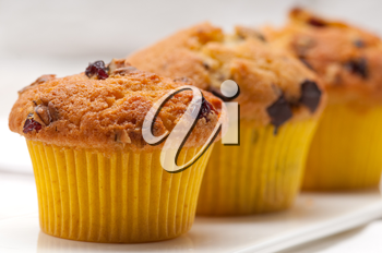Royalty Free Photo of Chocolate Chip and Raisin Muffins