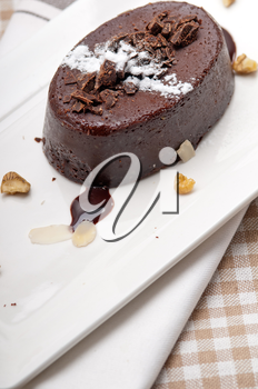 Royalty Free Photo of Chocolate Cake with Walnuts