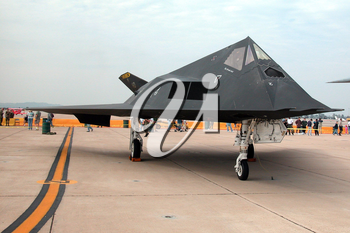 Royalty Free Photo of a Stealth Fighter F-117