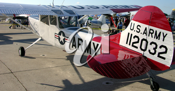 Royalty Free Photo of an Old Army Aircraft