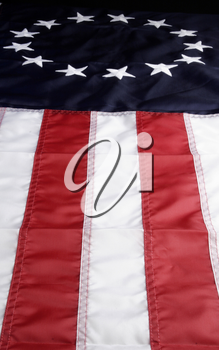 Royalty Free Photo of a Colonial American Flag