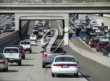 Royalty Free Photo of Traffic on a Freeway