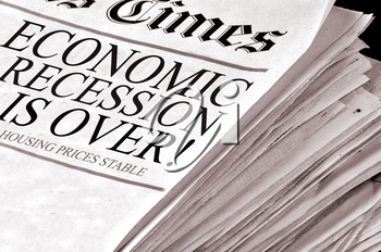Royalty Free Photo of an Economy Newspaper