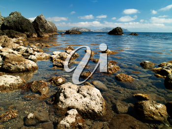 Royalty Free Photo of the Black Sea in the Ukraine