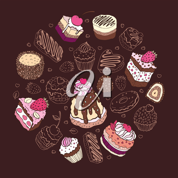 Royalty Free Clipart Image of a Cake Background