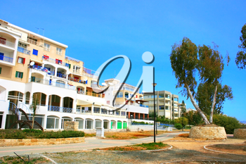 Royalty Free Photo of a Residential Area in Limassol, Cyprus