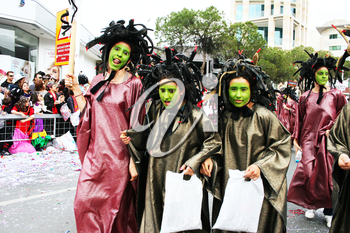 Royalty Free Photo of People in Medusa Costumes