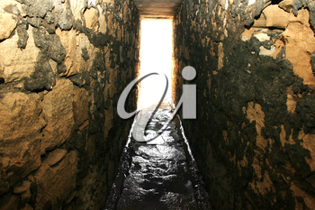 Royalty Free Photo of a Light at the End of a Tunnel