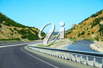Royalty Free Photo of a Mountain Road in Turkey