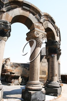 Royalty Free Photo of the Zvartnots Cathedral Ruins in Armenia