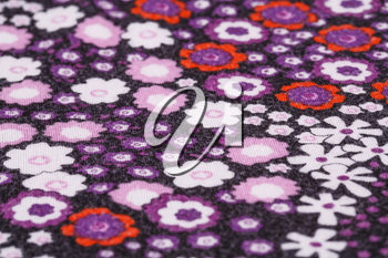 Colorful fabric background closeup picture.