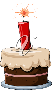 Royalty Free Clipart Image of a Cake