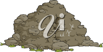 Royalty Free Clipart Image of a Cave