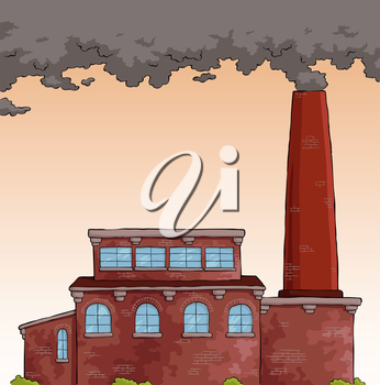 Royalty Free Clipart Image of a Factory