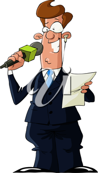 Royalty Free Clipart Image of a Reporter