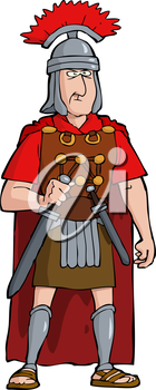 Royalty Free Clipart Image of a Warrior